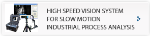 High speed vision system for slow motion industrial process analysis